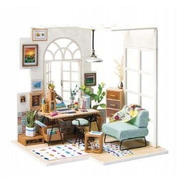 Miniaturowy domek dla lalek do sklejenia