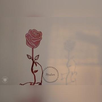 Stojak na wino - róża
