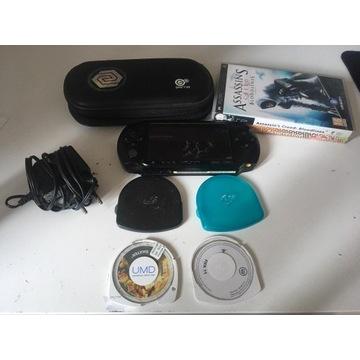 Konsola SONY PSP E1004 GRY, 16 GB, ŁADOWARKA, CASE