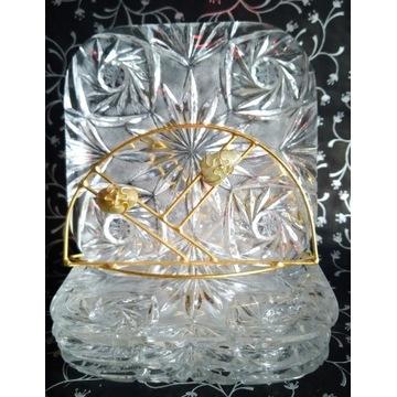 Piękne talerzyki kryształowe do ciasta Huta Julia
