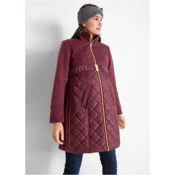 Nowy pikowany płaszcz ciążowy r.36