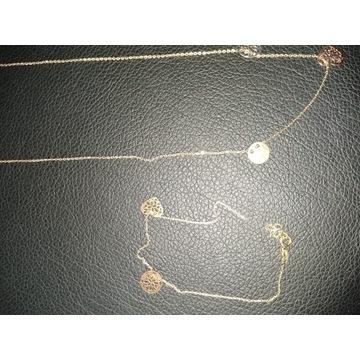 Łańcuszek złoty i bransoletka pr. 585