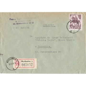 Mysłowice - Koperty listów poleconych 1960-80