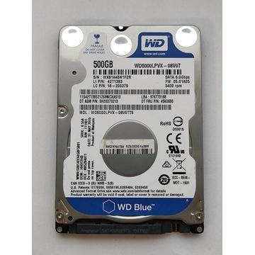 Dysk WD BLUE WD5000LPVX 500GB 7mm