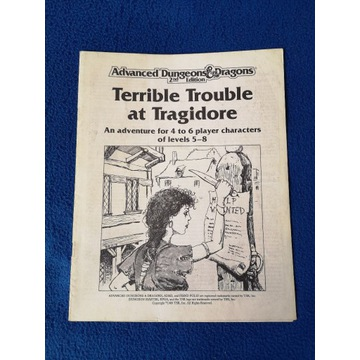 AD&D Terrible Trouble at Tragidore- scenariusz RPG