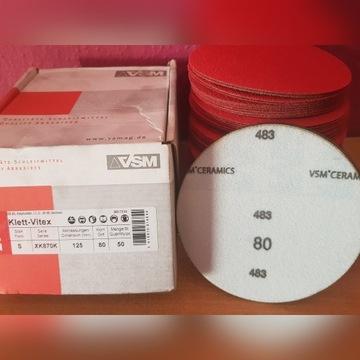 Krążki ścierne ceramiczne VSM 80 , 120 sztuk