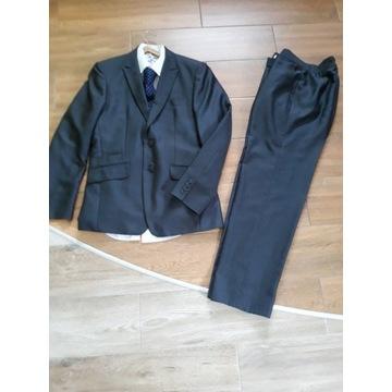 Zestaw garniturowy +koszula+krawat 170-175 wzrost.