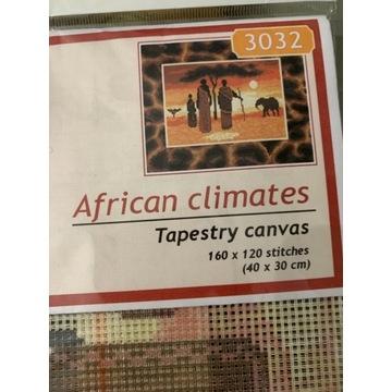 Kanwa do wyszywania 40x30 African climates