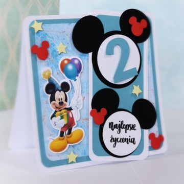Kartka urodzinowa Myszka Miki