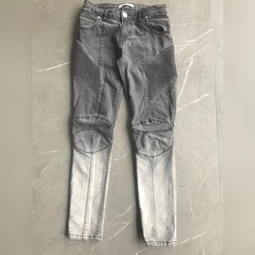 Szare jeansowe spodnie Pierre Balmain r.26 XS