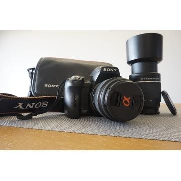 Sony Alfa 450 + SONY 18-55+SONY 55-200+TORBA BCM !