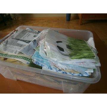 Mega paka serwetek i papierów do decoupage.