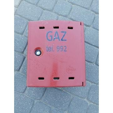Skrzynka gazowa / gaz na zawór brąz brązowy