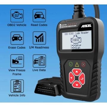 Ancel AS100 OBD2 skaner samochodowy OBD2