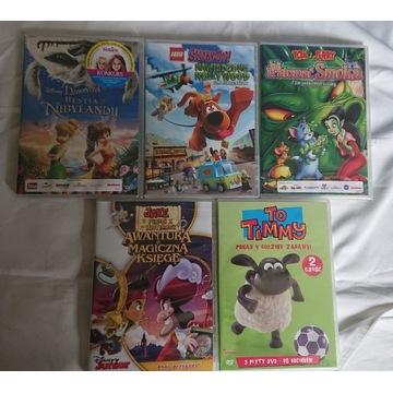 Tom i Jerry,scooby doo,Jake zestaw 7 dvd