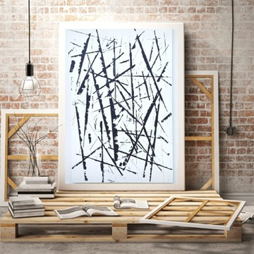 Obraz abstrakcja duży do salonu przedpokoju