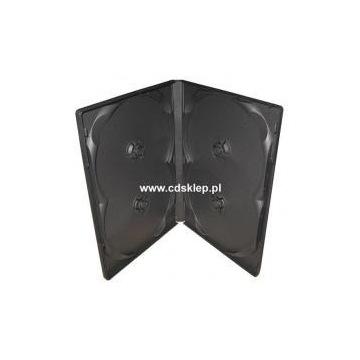 Etui plastikowe na 4 CD DVD 14mm czarne