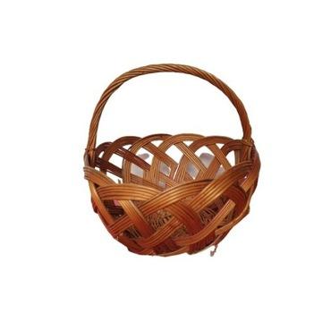 Koszyk wikliniowy koszyczek na grzyby wiklina