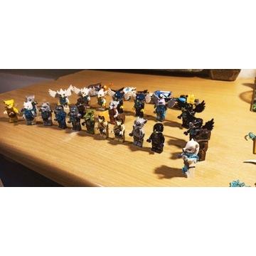LEGO CHIMA kolekcja 23 figurki, 4 pojazdy 19 broni