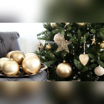 Ozdoby choinkowe złote srebrne bombki nietłukące