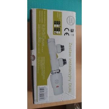 Zawór termostatycznydual kątowy InstalProjekt biel