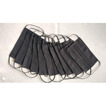 Maseczki bawełniane 10 sztuk czarne