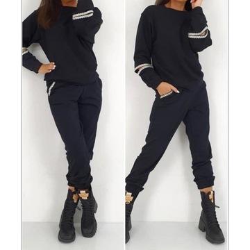 By o la la…! Dres bluza spodnie cyrkonie czarny