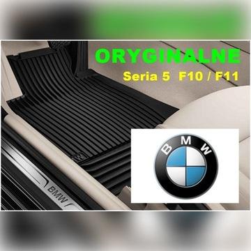 Dywaniki gumowe BMW Seria 5 F10 F11  Oryginalne
