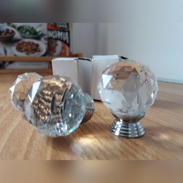 Kryształowe gałki do mebli 3 szt.