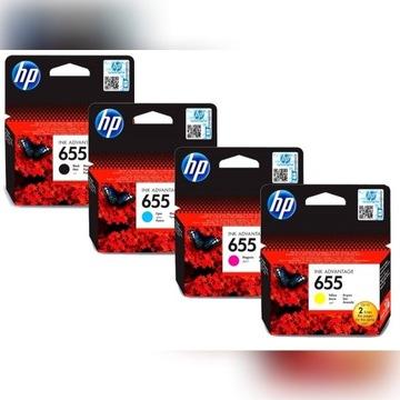 TUSZE HP 655 Oryginalne