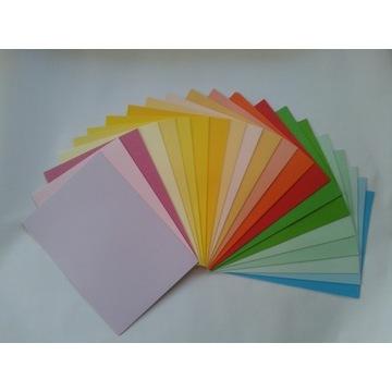 ZESTAW 210 sztuk kolorowy papier A4 *GRATIS*