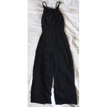 H&M długi kombinezon czarny XS 34 elegancki