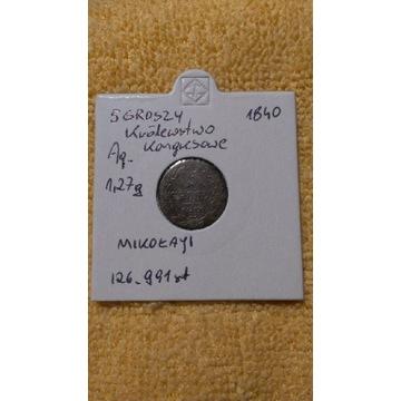 5 groszy 1840 , KROLEWSTWO KONGRESOWE,