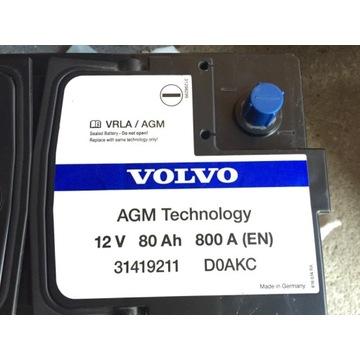 Volvo s90 xc90 oryginał AGM 80Ah 800A nowy 1050zł