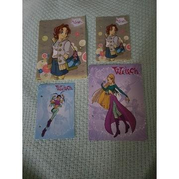 Karteczki do segregatora WITCH zestaw 4 szt.