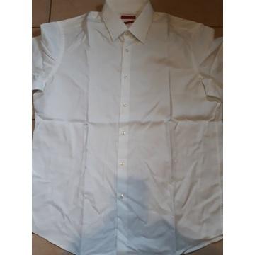 Koszula męska biała Hugo Boss krótki rękaw