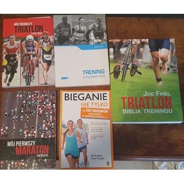 Zestaw 5 książek mój pierwszy maraton bieganie