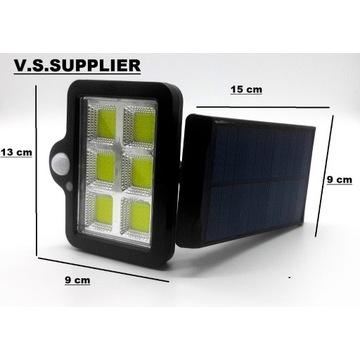 Lampa solarna z czujnikiem ruchu 60 wat