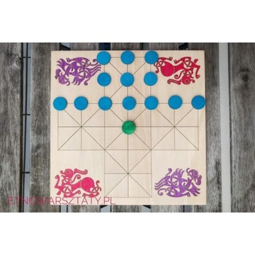 Średniowieczna (islandzka) gra planszowa Halatafl