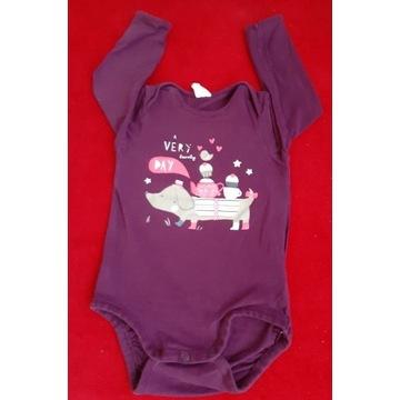 Body niemowlęce R.80, H&M, bordowe