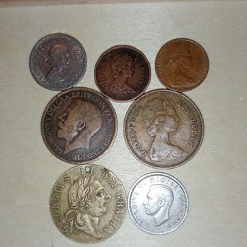 LOT 6) monety wielka Brytania