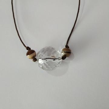 Biżuteria kryształowa - naszyjnik Agat dł. 73 cm
