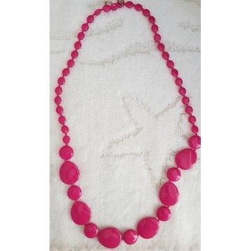 Naszyjnik korale różowe