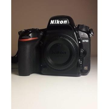 Nikon d750, niski przebieg, bez wad