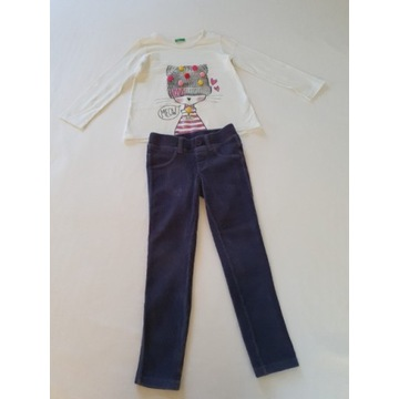 United Colors of Benetton r. 4-5 Y komplet bluzka