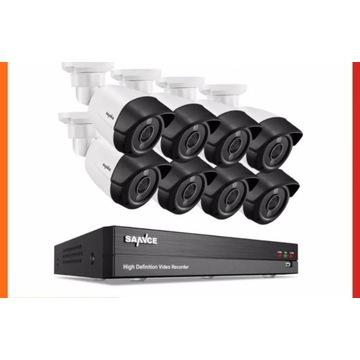 super Monitoring CCTV 8 Kamer 5 MPx + dysk 2 TB