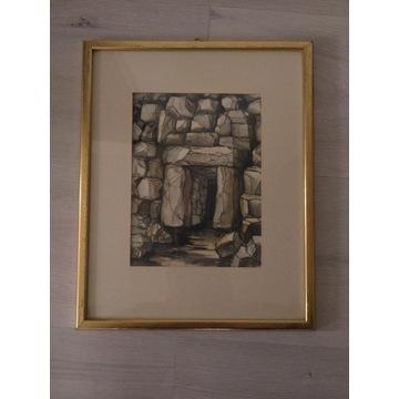 Obraz malowany ręcznie. 27x33