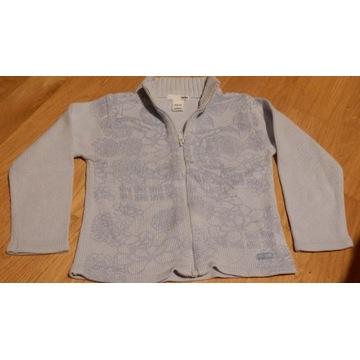 Sweter dla dziewczynki sweterek błękitny H&M r.104