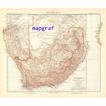 AFRYKA POŁUDNIOWA oryginalna mapa z 1906 roku 74
