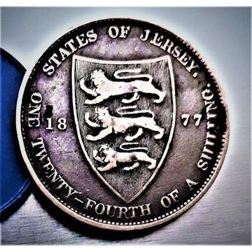 1/24 Schilling 1877-H- Anglia. Nakład- 244.000 egz